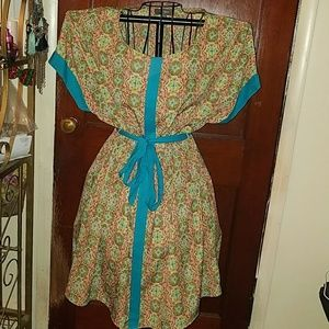 Umgee Tribal Print Comfy Dress